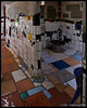 High Art in the Crapper; Hundertwasser toilets<br /> <br /> An Austrian ecoarchitect, Friedensreich Hundertwasser, who lived in Kawakawa, designed public toilets for the town.  Hundertwasser believed that flat surfaces and straight lines were unnatural and hostile to the natural creativity of human beings.  <br /> <br /> Kawakawa, NZ<br /> November 19, 2011<br /> 064