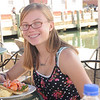 Maddie having a lobster roll in Maine