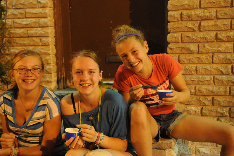 Of course the big girls had gelato too.