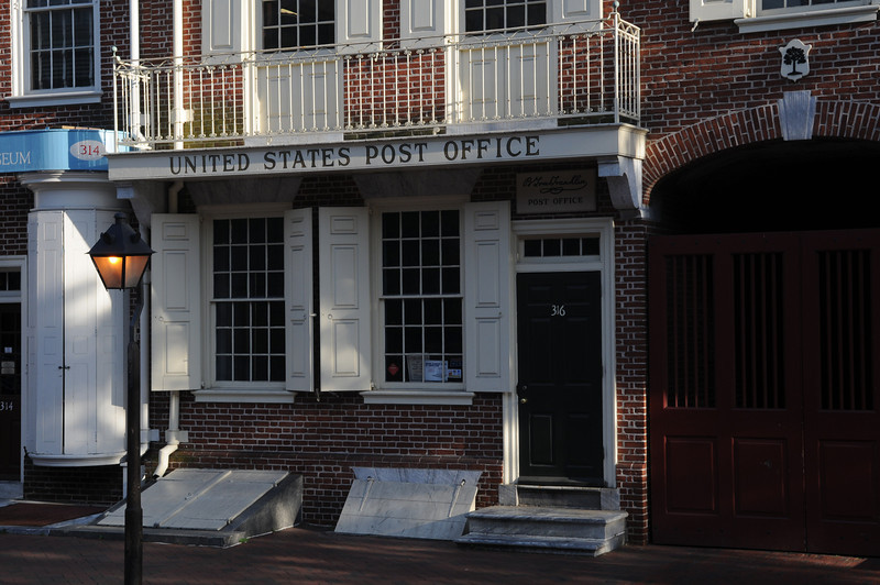 The first United States Post Office - Ben Franklin was the postmaster