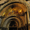 Ital0130 The entrance to St  Mark's Basilica, adorned with a mosaic of the Last Judgement