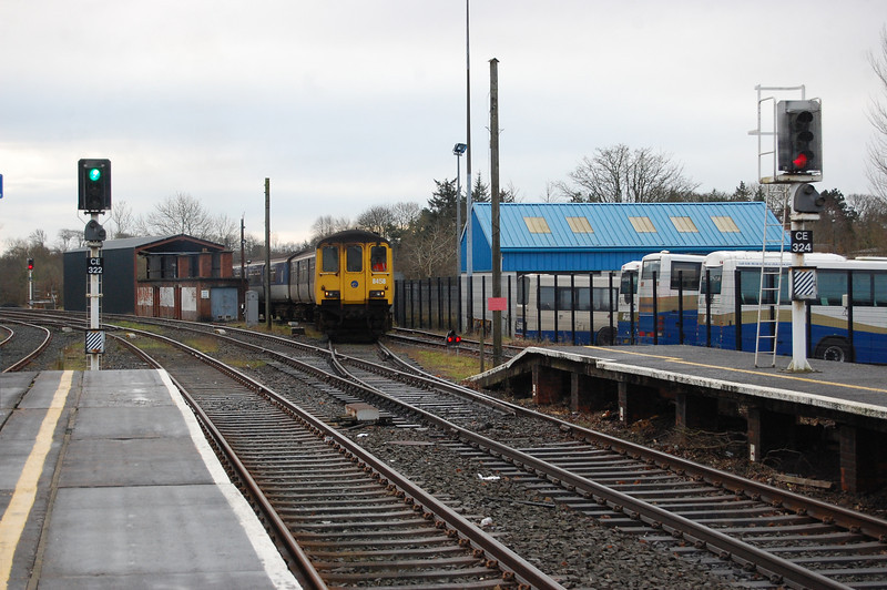 458 comes from the fuel siding to the platform at Coleraine to work the 1000 to Portrush 021211