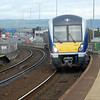 First day into passenger service, 4003 arrives at Yorkgate with the 1300 Carrickfergus/Belfast Central. 031011