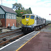 072 arrives at Roscrea under semaphore signalling. 090911