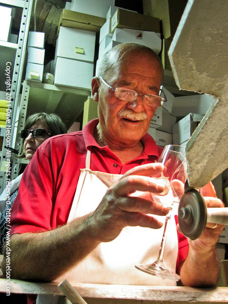 "The crystal shop ""Moleria Gelli"" is a little artisan firm cutting high quality crystal objects since more then 50 years. Colle Val d'Elsa, Tuscany, Italy"