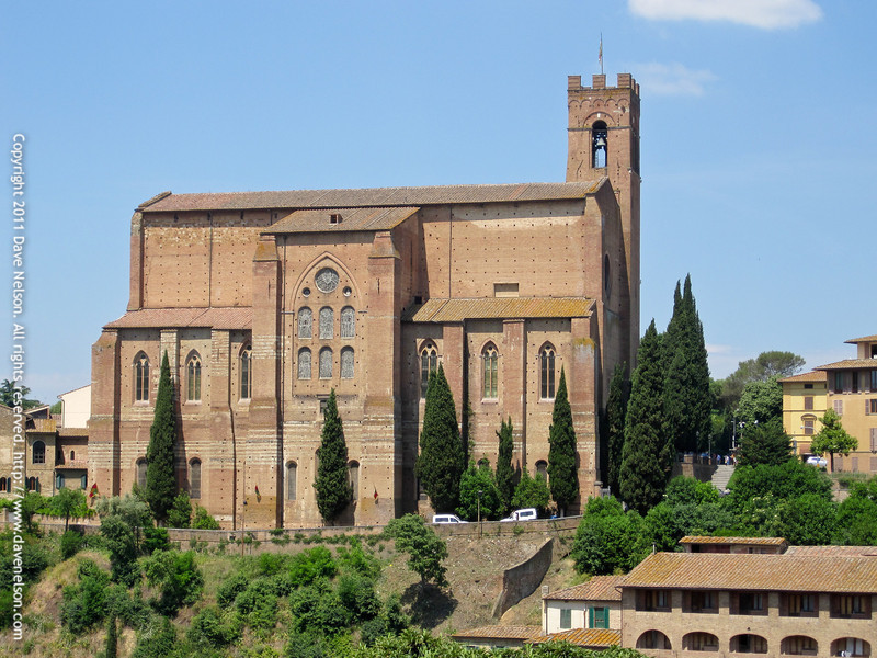 Church of San Domenico, Siena, Italy. For more than six centuries Siena has jealousy kept wathc over the sacred head of St. Catherine in the Basilica of St. Dominic.