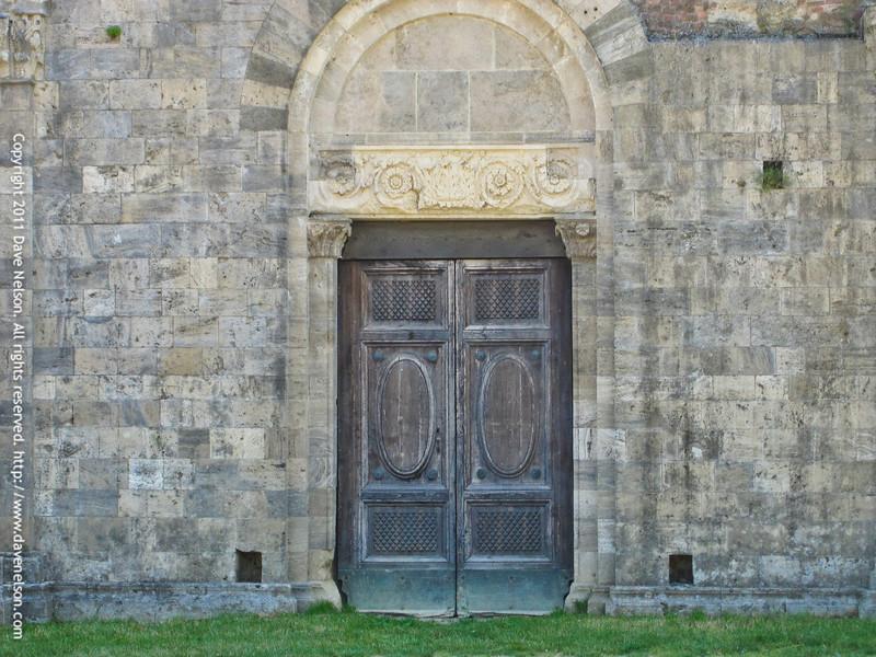 Doors at the Abbey of San Galgano