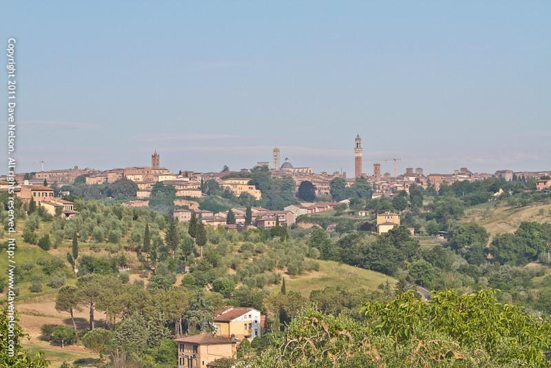 Skyline view of Siena from Frances' Lodge, Siena