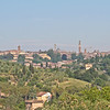 Skyline view of Siena from Frances' Lodge, Siena
