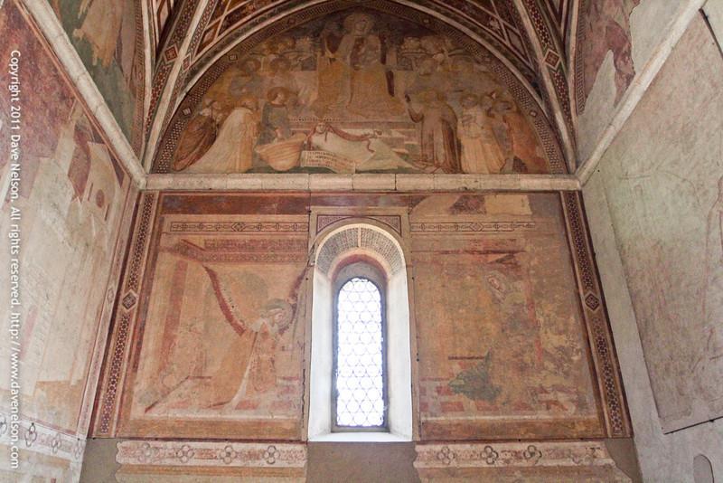 Frescos by Ambrogio Lorenzetti a Sienese painter