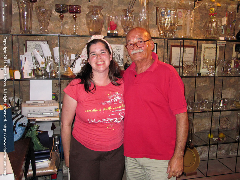 """The crystal shop """"Moleria Gelli"""" is a little artisan firm cutting high quality crystal objects since more then 50 years. Colle Val d'Elsa, Tuscany, Italy"""