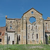 The back of the Abbey of San Galgano