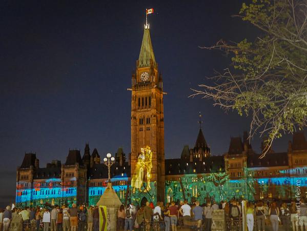 Light Show at Parliament Hill