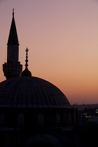View from apartment, Istanbul. Sokollu Mehmet Pasha Mosque.