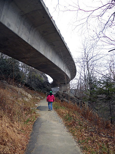 The viaduct was the last link in the the parkway, carefully swinging the parkway around Grandfather Mountain.