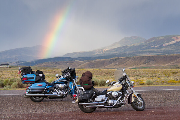 Rainbow on Route 50 near Torrey, Utah (2)