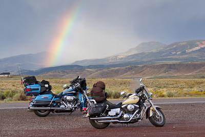 Rainbow on Route 50 near Torrey, Utah (2)