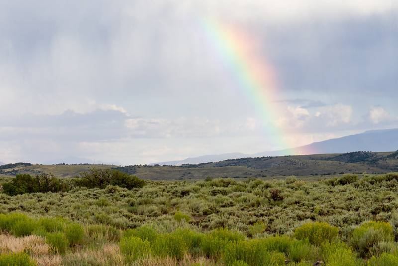 Rainbow on Route 50 near Torrey, Utah