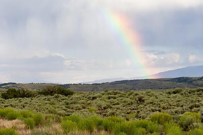Rainbow on Route 50 near Torrey, Utah