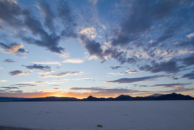 Sun Sets on Great Salt Flats