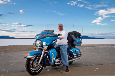 Doug at Great Salt Flats
