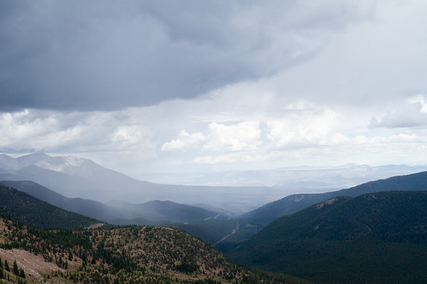 View from top of Monarch Pass