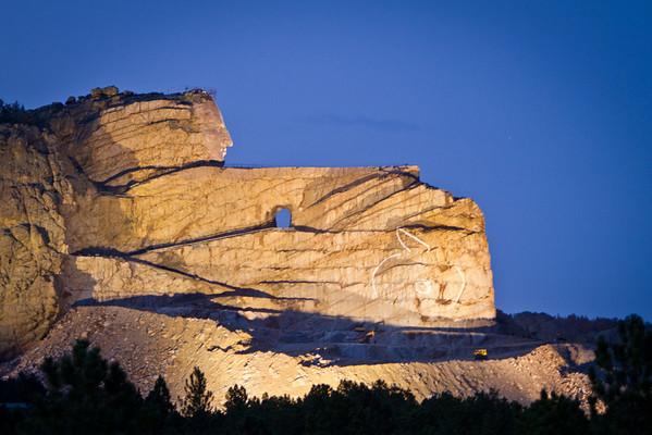 Crazy Horse at Night