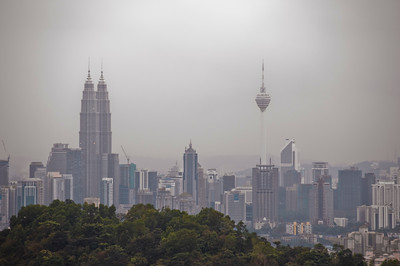 Petronas Towers and the KL tower.