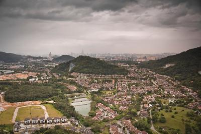 Looking towards Kuala Lumpur.