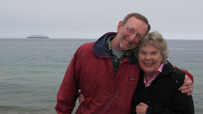 Don and Jan, Martha's Vineyard...Prinsendam in distance