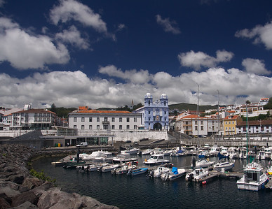 Boat Harbor in Azores  Holland America's Prinsendam Cruise to the Nordkapp:  Azores: