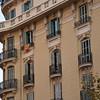 Walking along Gran Via de les Corts Catalanes