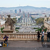 View from the museum down to Placa d' Espanya
