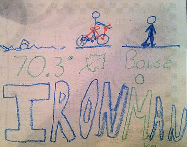 Ironman drawing Kelly made Boise Ironman 70.3