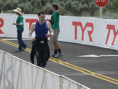 Glad to be out of that water Boise Ironman 70.3