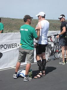 Body marking Boise Ironman 70.3