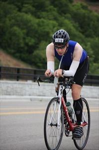 On the bike Boise Ironman 70.3