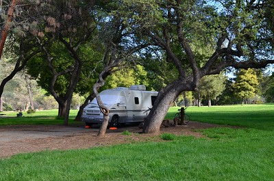 Our campsite at Del Valle, CA before the Rialta Gathering