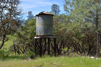Water tank at the hold homestead.
