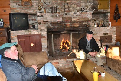 Enjoying the company inside the ranch house.  Dave from Port Townsend, WA and Denny from Dorrington, CA.