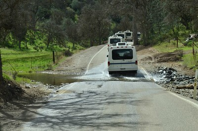 The Rialtas caravan from Livermore to the Ranch.  There was lots of water this time of year.