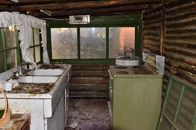 The inside of the cabin had been over-run with rats!