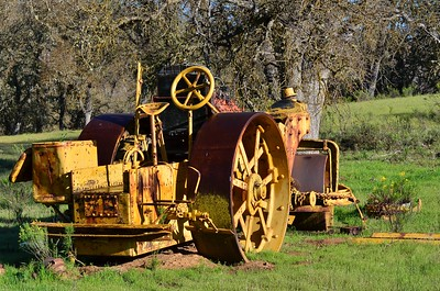 This old steam roller was used to keep the airstrip in shape.