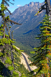 Highway 20 - The North Cascades Highway - as seen from Washington Pass.