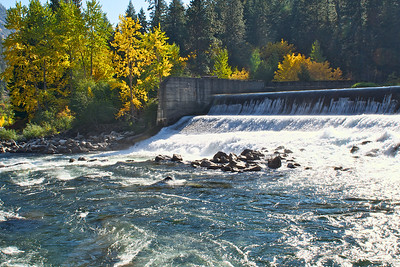 The spillway at the fish hatchery - Tumwater Canyon on the east side of Steven's Pass.