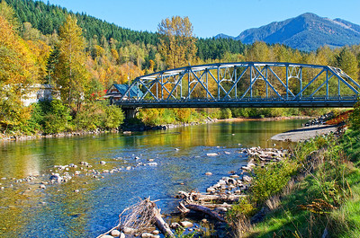 Bridge over the Skykomish River - Skykomish, WA.