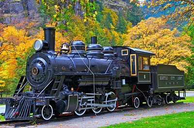 This engine sits along the North Cascades Highway at Newhalem, WA