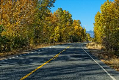 Highway 20 as we leave Winthrop.