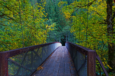 Footbridge over the Skagit River at Newhalem, WA