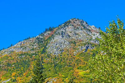 A colorful peak near the summit - Steven's Pass